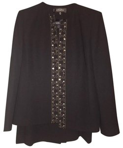 Kasper Kasper Black 3 Piece Skirt Suit 8P