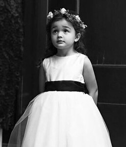 Gorgeous Flower Girl Dress Silk And Tuile