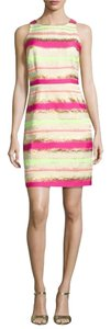 Laundry by Shelli Segal short dress Pink Yellow Lime Cream on Tradesy
