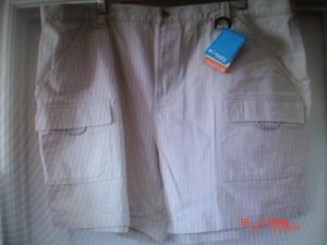 Colombia Sportswear Upf Protection Plus-size Creamy Khaki Shorts