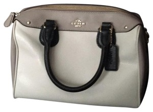 Coach Satchel in Black, Beige, Cream