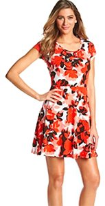 Michael Kors short dress ORANGE FLORAL Mf58vb12mp on Tradesy