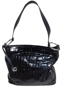 Brighton Patent Leather Croc Shoulder Bag