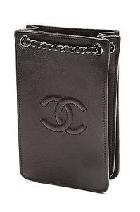 Chanel Leather Phone Satchel in Black