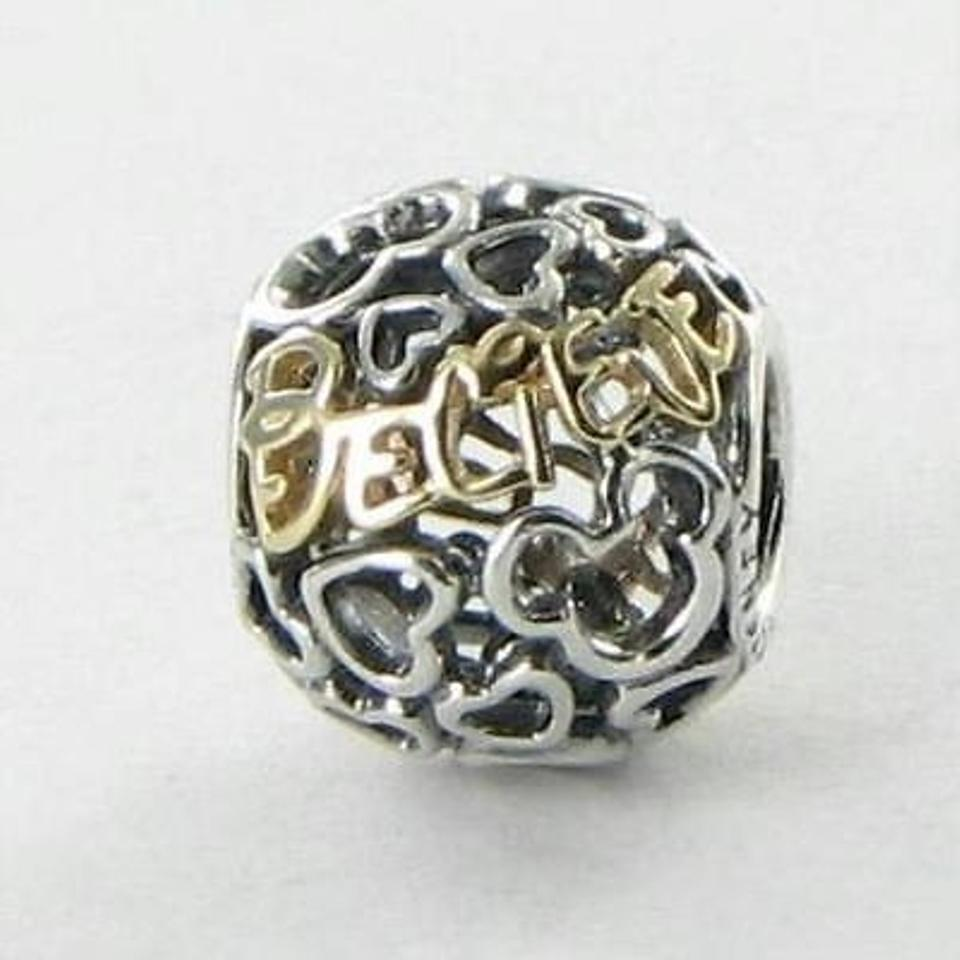 pandora disney jewelry collection 14k yellow gold & silver believe gold charm