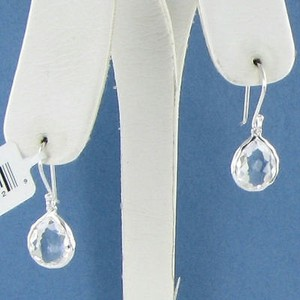 Ippolita Ippolita Rock Candy Earrings Teeny Teardrop Clear Quartz Sterling 925