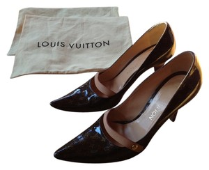 Louis Vuitton Heels Stilettos Brown Pumps