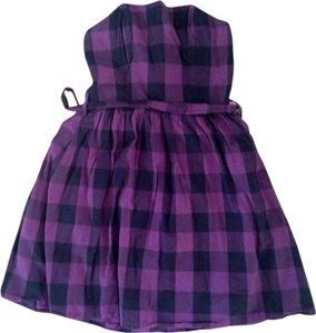 Sisley short dress Purple and Black Plaid on Tradesy