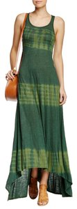 Green Faded Tracks Maxi Dress by American Twist