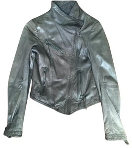 Danier Gray Leather Jacket