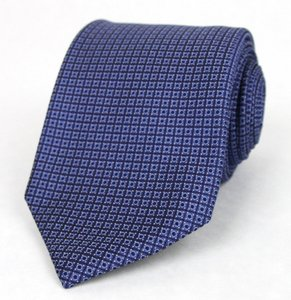 Gucci New Gucci Men's Blue Woven Silk Tie W/dot Print 336406 4269
