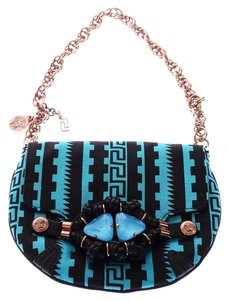 Versace Black and Blue Clutch