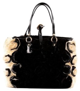 Valentino Silk Tote in Black