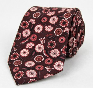 Gucci New Gucci Men's Bordeaux Floral Silk Twill Tie 346737 6273