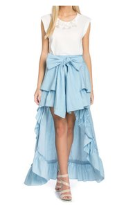 TOV Holy Maxi Skirt Light Blue