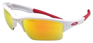 Oakley OAKLEY Sunglasses QUARTER JACKET OO9200-03 White Frame w/Fire Iridium