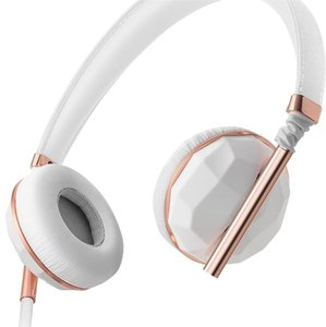 Caeden New Caeden White Ceramic And Rose Gold On-Ear Headphones