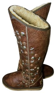 Australia Luxe Collective Sheepskin Size 7 Brown Boots