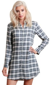 BB Dakota Bb Shirtdress Button Down Shirt Plaid