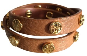 Tory Burch BRAND NEW WITH TAGS Double Wrap Logo Stud Bracelet