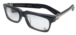 Chrome Hearts CHROME HEARTS Eyeglasses SPLAT-A BK-GP 55-17 143 Black & Gold Frame