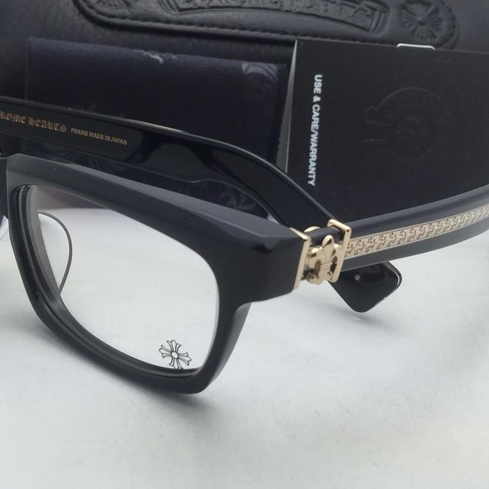 Chrome Hearts Splat-a Bk-gp 55-17 143 Black & Gold Frame Eyeglasses ...