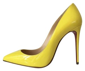 Christian Louboutin Sun Pigalle Follies Yellow Pumps