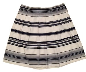 Vince Camuto Skirt Dark Blue and White Striped