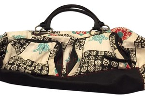 Billabong Tote in White/black/red/teal