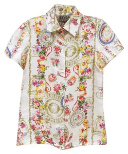 Anthropologie Button Down Shirt White, Pink, Blue, Yellow, Red, Brown, Green