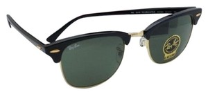 Ray-Ban CLUBMASTER Ray-Ban Sunglasses RB 3016 W0365 51-21 Black & Gold w/G15