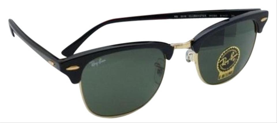 b0a0803853 Ray-Ban Rb 3016 W0365 51-21 Black   Arista W G15 Green Clubmaster ...