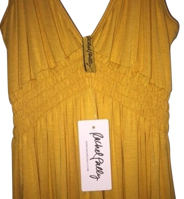 Item - Soleil (Yellow) Empire Waist Camisole Long Casual Maxi Dress Size 12 (L)