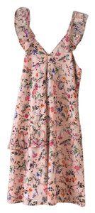 MSGM short dress Pink Floral Cotton on Tradesy