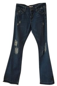 Chrome Hearts Flare Leg Jeans-Distressed