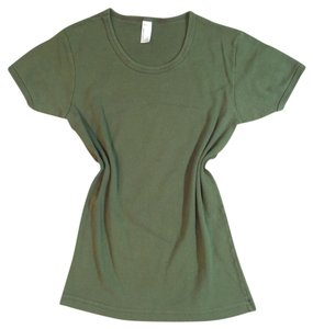 American Apparel Usa T Shirt Military Green