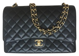 Chanel Leather Maxi Caviar Shoulder Bag
