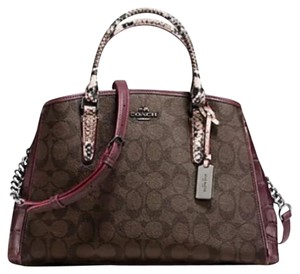 Coach Satchel in Brown/Burgundy