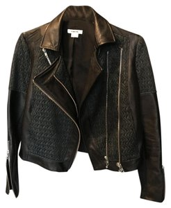 Helmut Lang Crop Biker Biker Leather Moto Leather Jacket