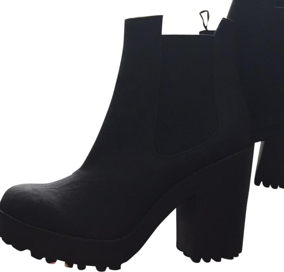 17945f963f Divided by H&M Black Booties Platforms Size US 7.5 Regular (M, B ...