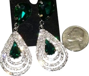 Other Emerald Green color New Crystal Clear Cluster Drop Fall Tear Dangle