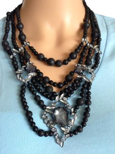 Alexis Bittar Black beads with crystal necklace