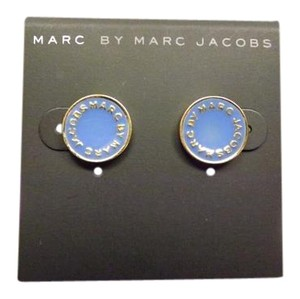 Marc by Marc Jacobs Marc By Marc Jacobs Blue Logo Earrings
