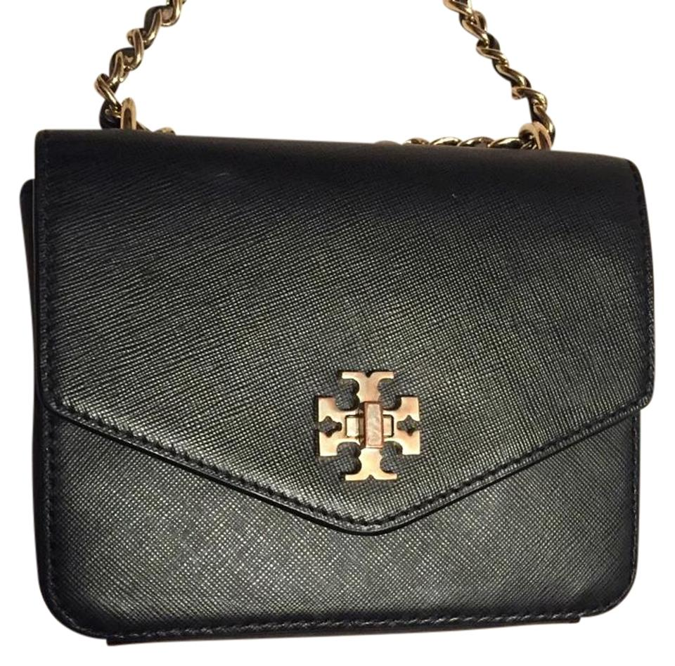 f6b26eb6f75 Tory Burch Kira Mini Chain Clutch Black Cross Body Bag - Tradesy
