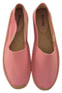 Soludos Espadrille Canvas Pink Flats