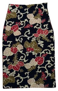 Zara Skirt Navy foral