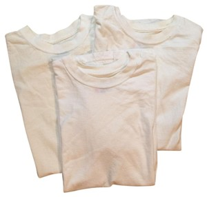 Hanes Lot Cotton Crewneck T Shirt White
