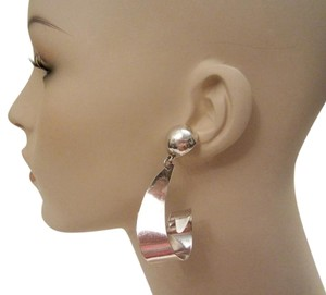 Other TAXCO LARGE CURL STERLING SILVER EARRINGS MODERN ABSTRACT Dangle 22 g