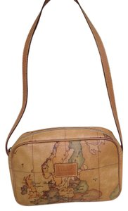 Alviero Martini Coated Canvas Leather Shoulder Bag