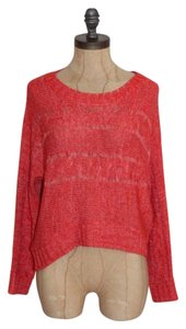 Romeo & Juliet Couture Distressed Crop Knit Marled Sweater